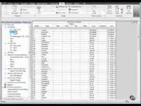 14 03 autodesk revit room finish schedule mov youtube
