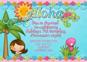 hawaiian luau birthday invitation by decidedlydigital