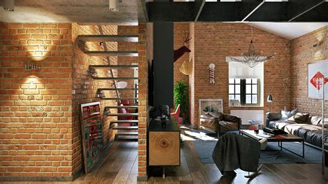brick loft 3 stylish industrial inspired loft interiors