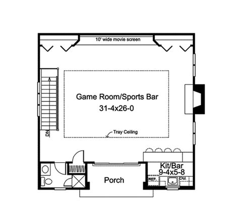 sports bar floor plan laronda game room sports bar plan 009d 7533 house