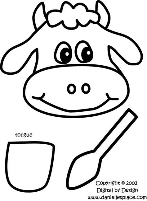 Printable cow spots template preschool paper bag cow puppet pattern