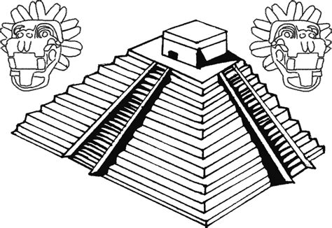 imagenes mayas facil de dibujar piramide de la luna para dibujar imagui