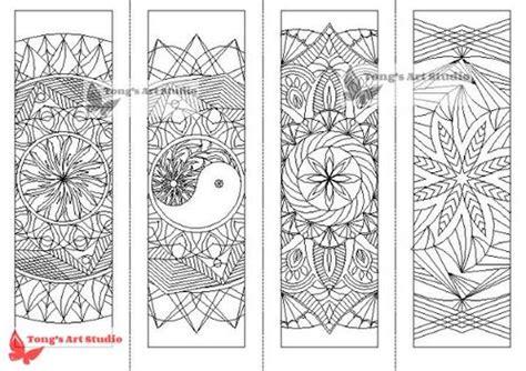 printable mandala coloring bookmarks  tongs art studio