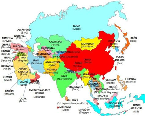 asia y africa mapa mapa asia world map