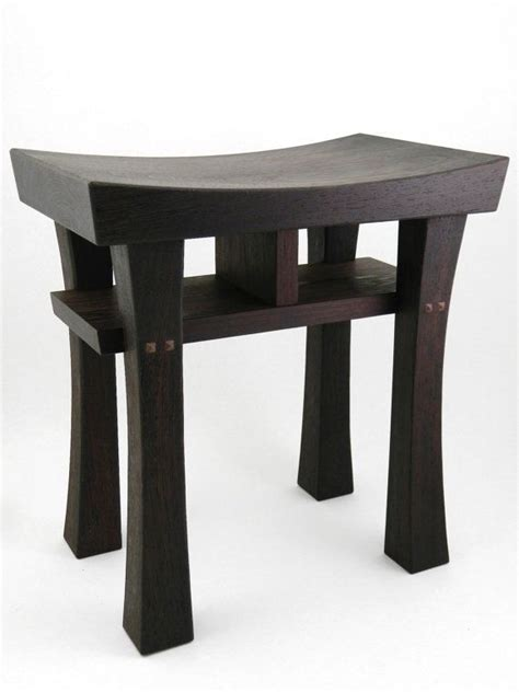 asian stools benches asian style bench size medium made to order maple oak cherry walnut or mahogany
