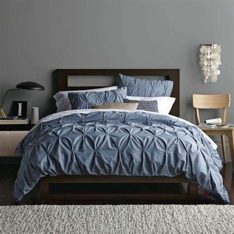 organic cotton pintuck shams steel blue duvet duvet