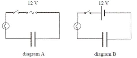 mastering physics capacitor supplies current to bulb potential difference and capacitance