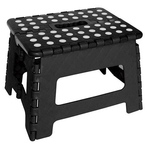 White Dots On Stool by Folding Step Stool Small Black White Dots