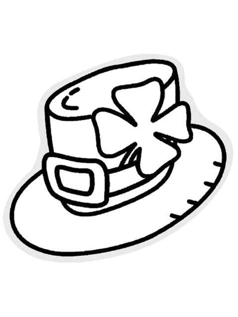 leprechaun hat coloring page st patrick 39 s day hat coloring pages