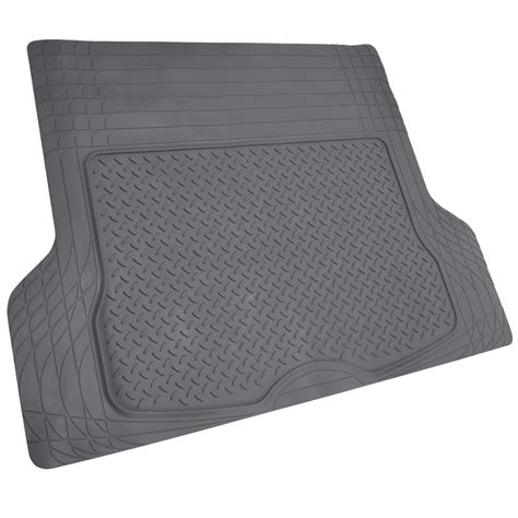 mat for car 3 row car floor mat for suv snow mud trap protection trimmable gray w trunk mat ebay