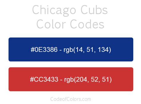 chicago colors chicago cubs colors hex and rgb color codes