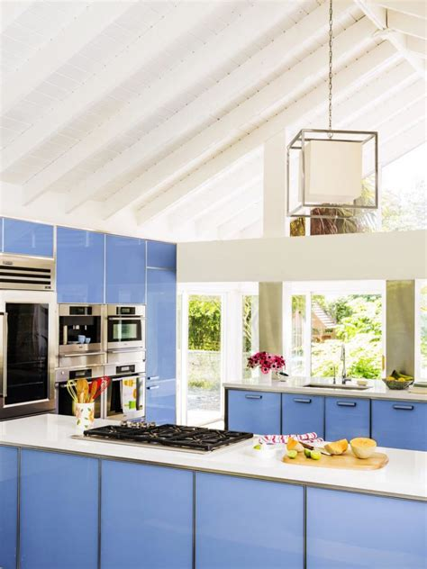 sky kitchen cabinets 40 colorful kitchen cabinets to add a spark to your home