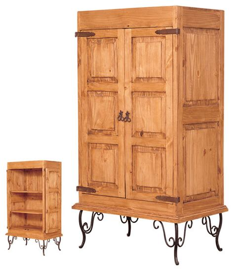 rustic pine and iron armoire rustic armoires and