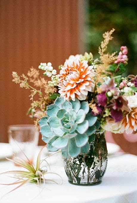 Vintage Romantic Wedding Flowers Dahlia Wedding Succulents For Wedding Centerpieces