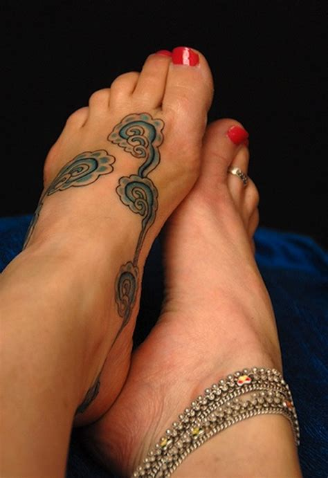 awesome foot tattoo designs 45 cloud tattoos meaning and designs gallery for and