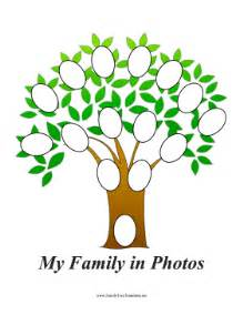 family tree with oval photos template