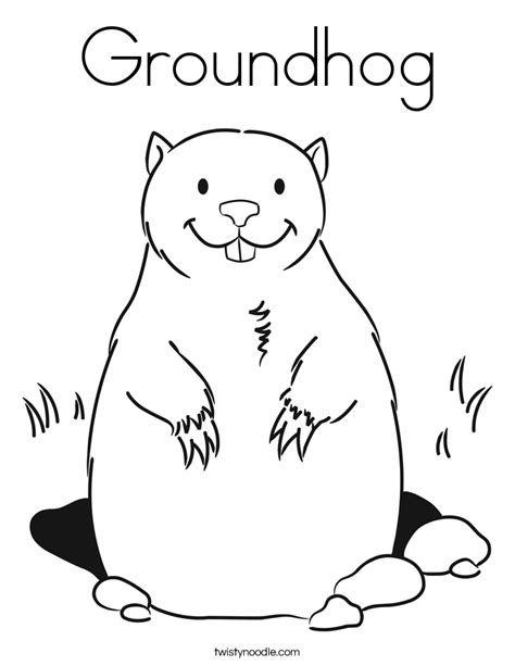groundhog coloring page printable groundhog day printables for kids coloring home