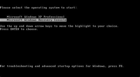 windows xp recovery console install recovery console