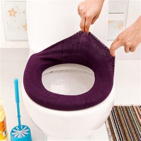 Toilet Seat Warmer Bathroom Toilet Seat Warmer Washable Cloth Toilet Seat