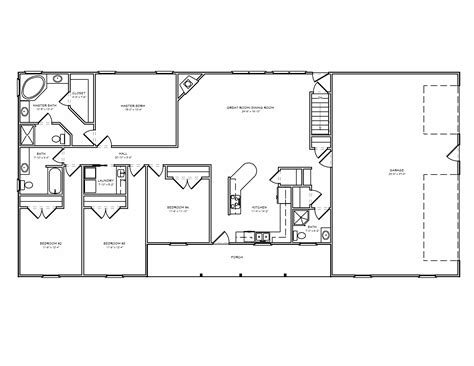 House Floor Plans Ranch Great Room Ranch House Plan Ranch Houseplan With Greatroom The House Plan Site