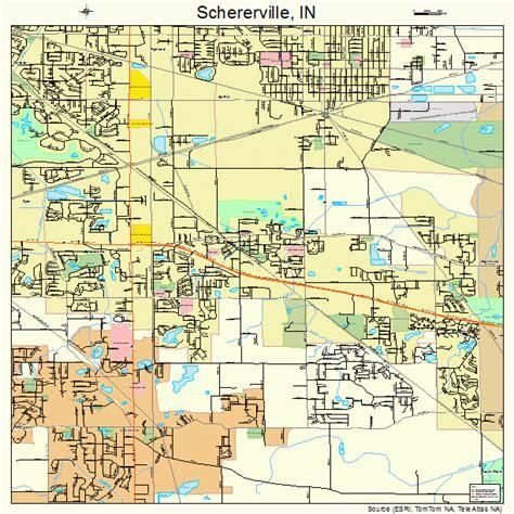 schererville indiana street map 1868220