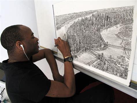 paige savant drawing manhattan in my studio stephen wiltshire image