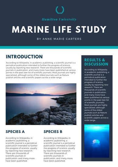 blue modern scientific poster templates  canva