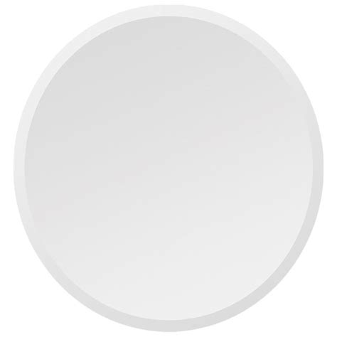 large round frameless bathroom mirror dcg stores round contemporary mirror beveled frameless dcg stores