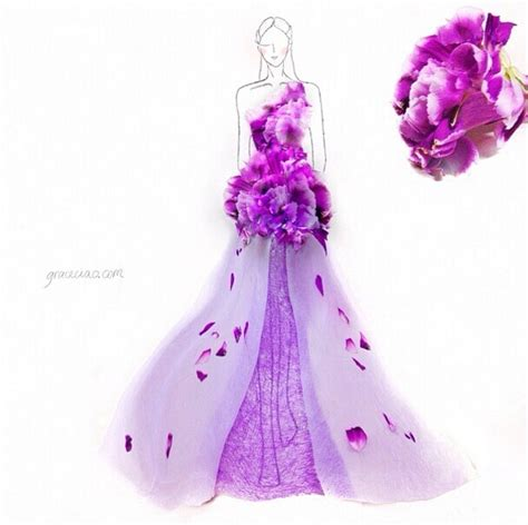design fashion ideas creative fashion design sketches using real flower petals