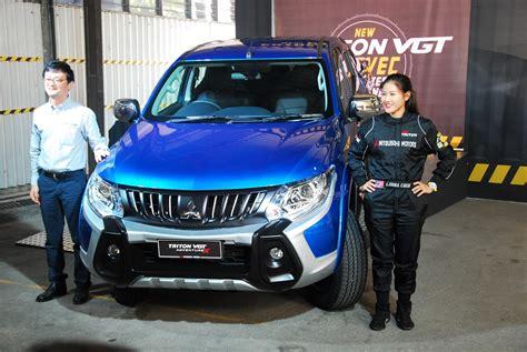 mitsubishi mivec car launched mitsubishi triton with mivec diesel engine