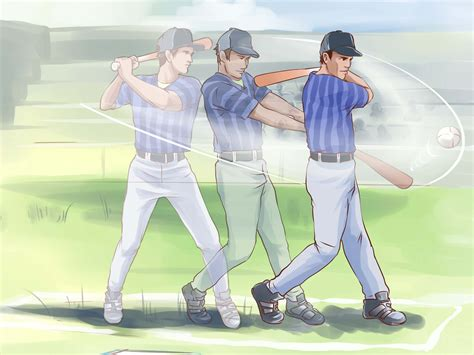correct way to swing a bat how to swing a baseball bat 11 steps with pictures