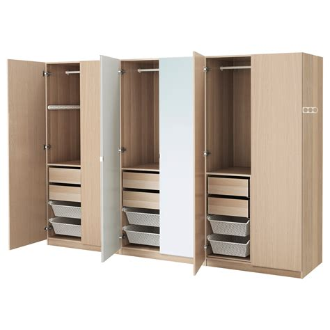 armoire pax pax wardrobe white stained oak effect nexus vikedal
