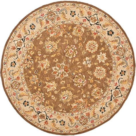 Safavieh Chelsea Brown Ivory 8 Ft X 8 Ft Round Area Rug 8ft Rugs