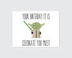 wars birthday card printable yoda by remembernovembershop