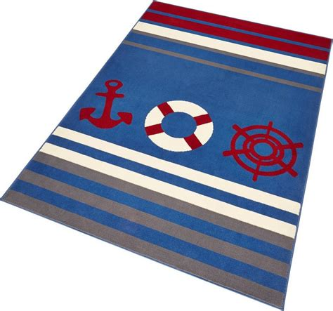 maritimer teppich teppich 187 maritim 171 hanse home rechteckig h 246 he 9 mm