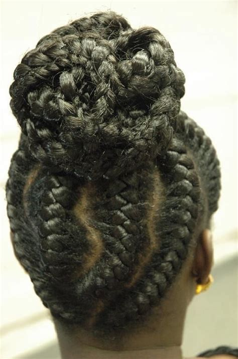 ethnic updo goddess braids pinterest