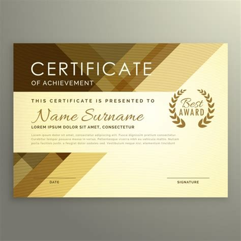Modern certificate design in premium style Vector   Free