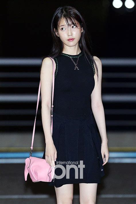 iu  lovely chic    black dress