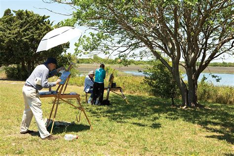 en plein air artists paint the town lumina news