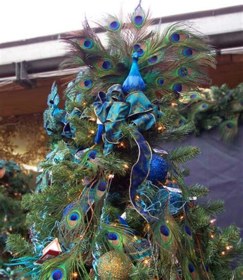 peacock tree christmas pinterest