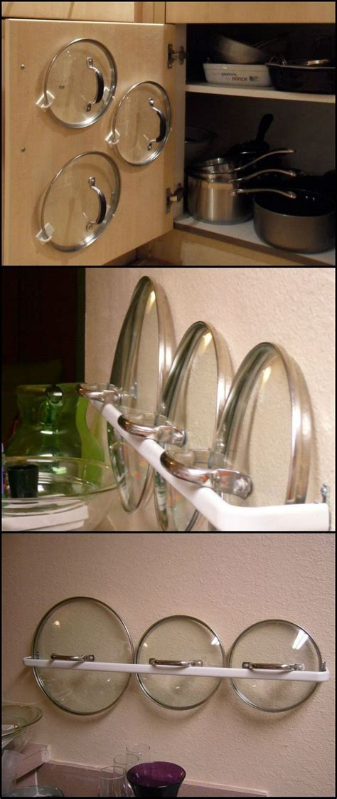 diy pot lid organizer storage solutions pinterest