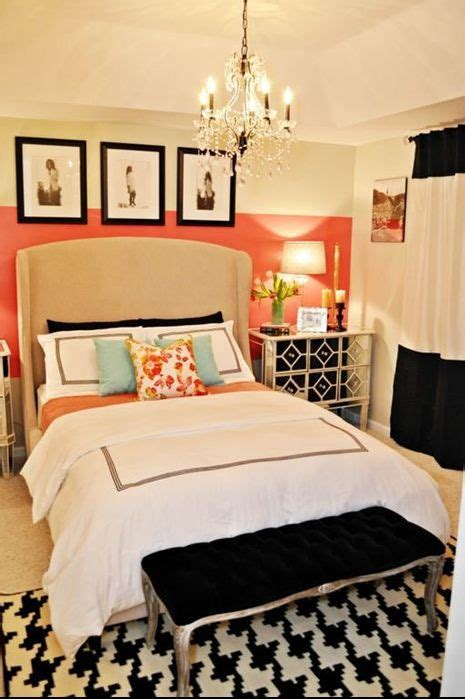 orange and white bedroom a bedroom fit for a fashionista black white bedrooms