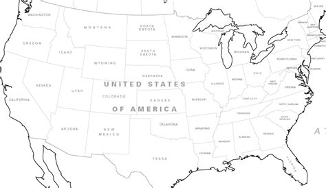 north america map coloring sheet coloring pages