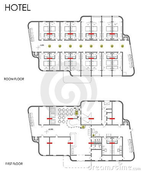 hotel layout drawing hotel drawing plan royalty free stock images image 21303159