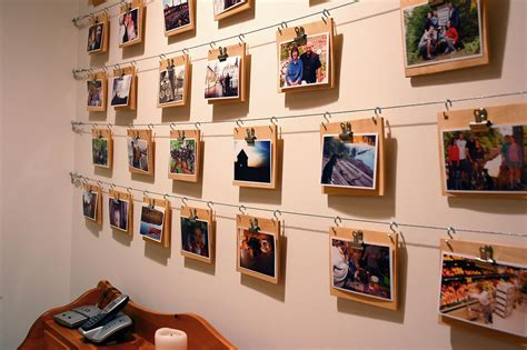 ideas for displaying pictures on walls cheap easy photo display wall this photo is part of a
