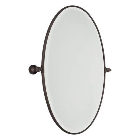 oval pivot bathroom mirror minka lavery 1432 267 dark brushed bronze extra large oval