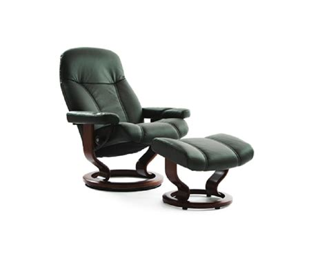 Stressless Recliners by Ekornes Stressless Consul Recliner And Ottoman Decorum