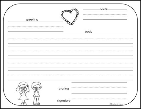 template for a friendly letter friendly letter lesson plans 2nd grade letter writing