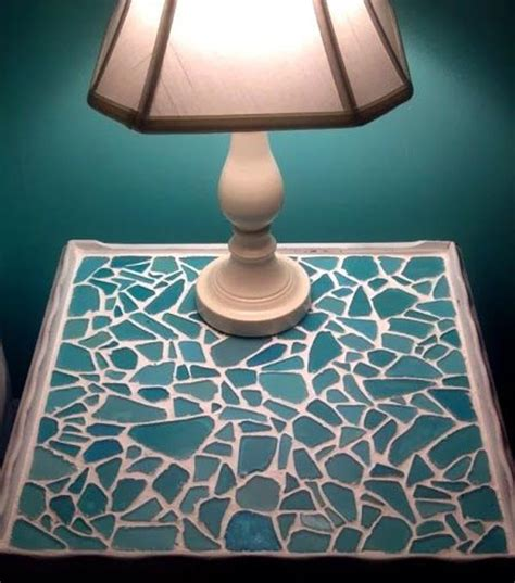 cute diy home decor ideas  colored glass  sea glass