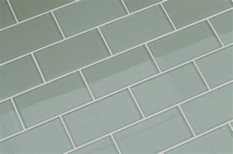 sage green glass subway tile 3x6 for backsplashes showers sage light green 3x6 glass subway tiles for kitchen